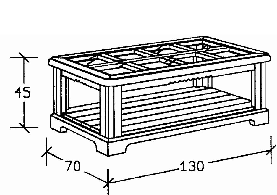 Mesa centro rústica rectangular sobre de cristal
