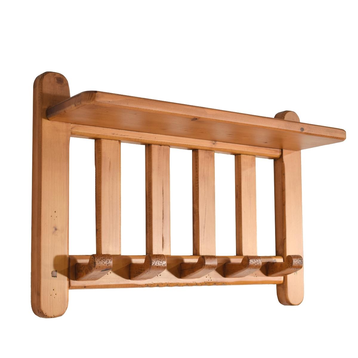 Perchero pared r stico de madera ecor stico venta de muebles - Percheros rusticos de pared ...