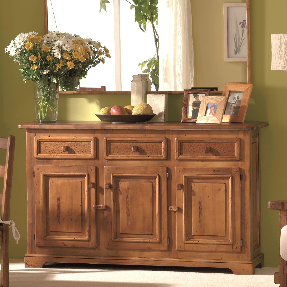 Aparador rústico de madera 159cm. Ecorústico: venta de muebles