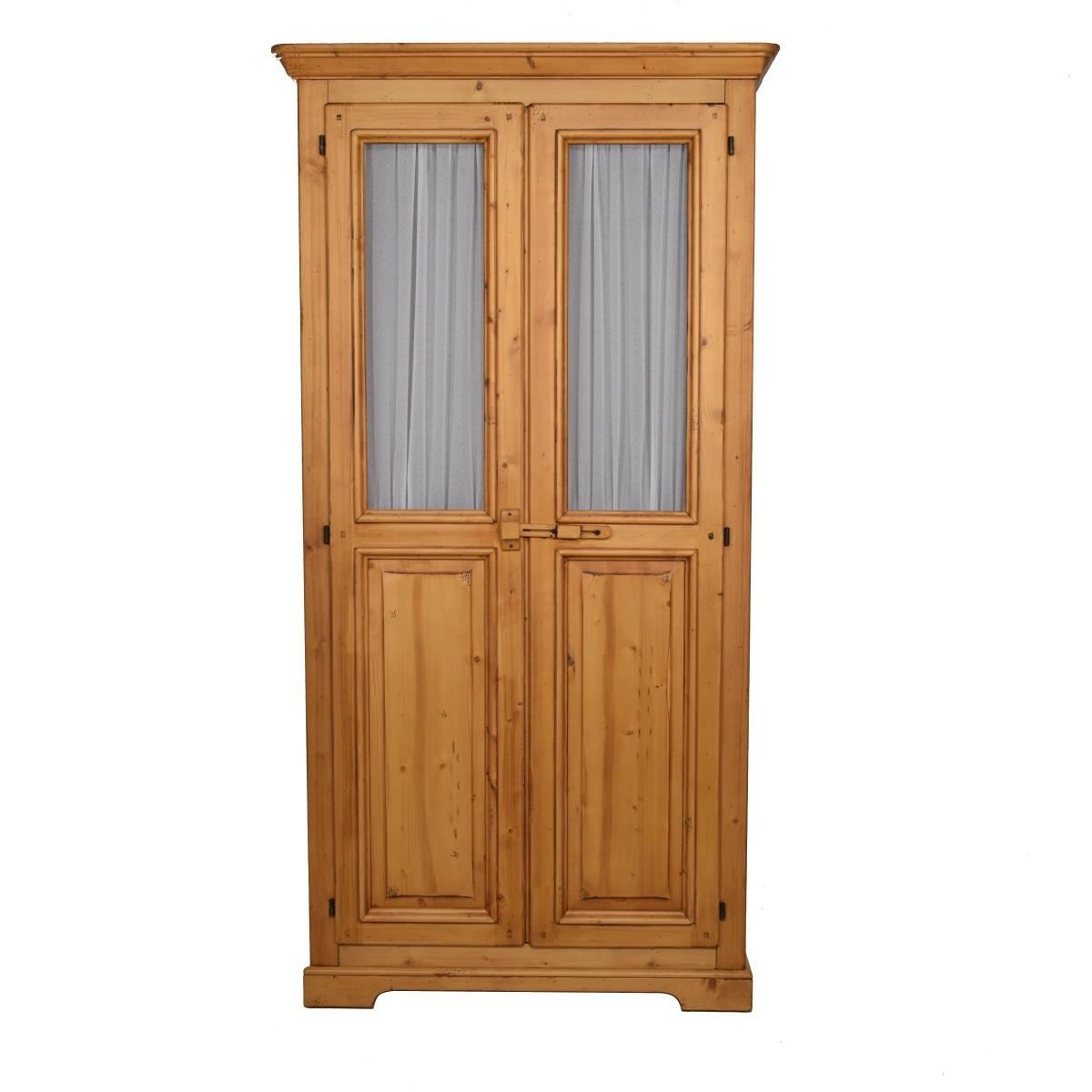 Armario r stico dos puertas cristal y visillo for Puertas y armarios