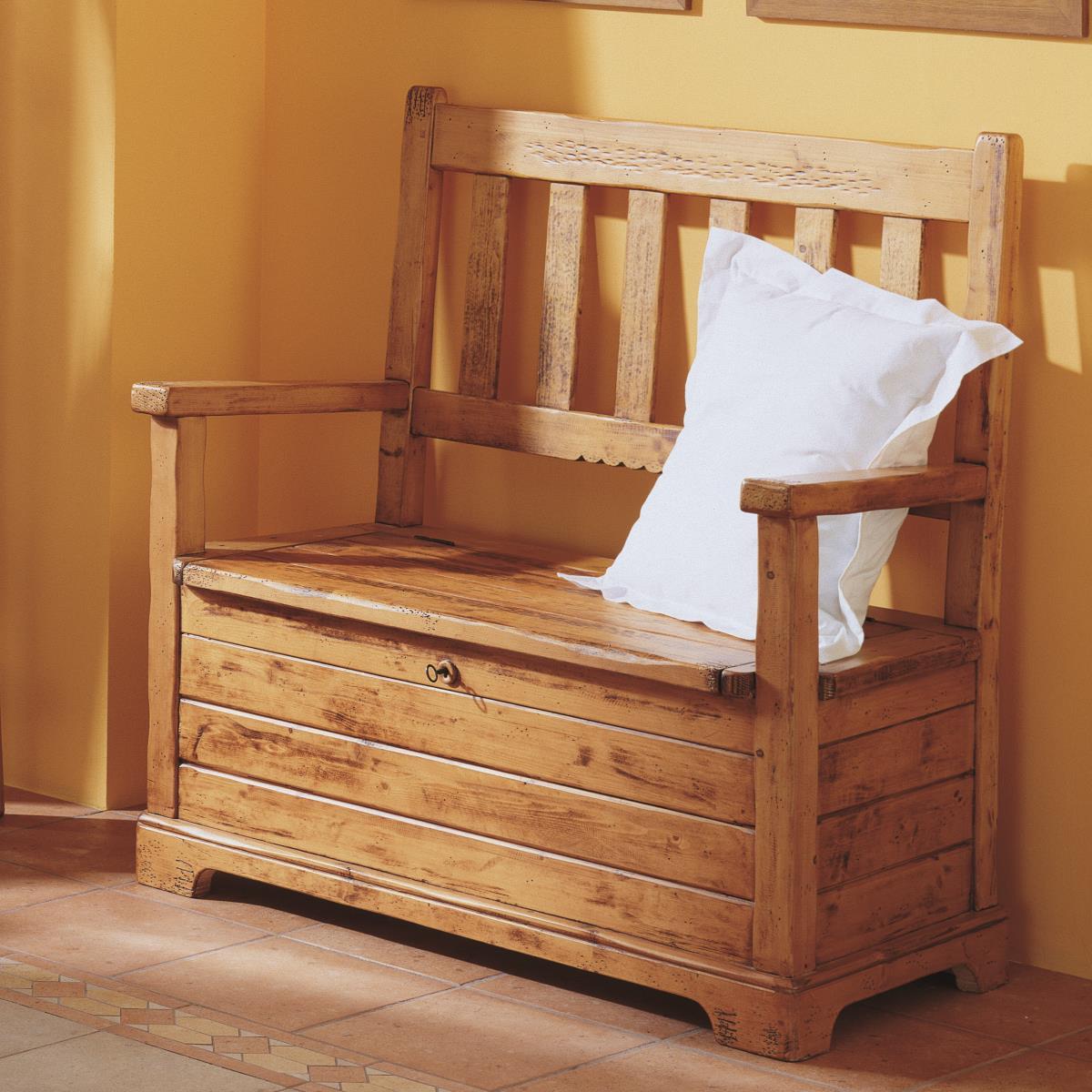 Banco recibidor arc n r stico ecor stico venta de muebles - Mueble recibidor rustico ...