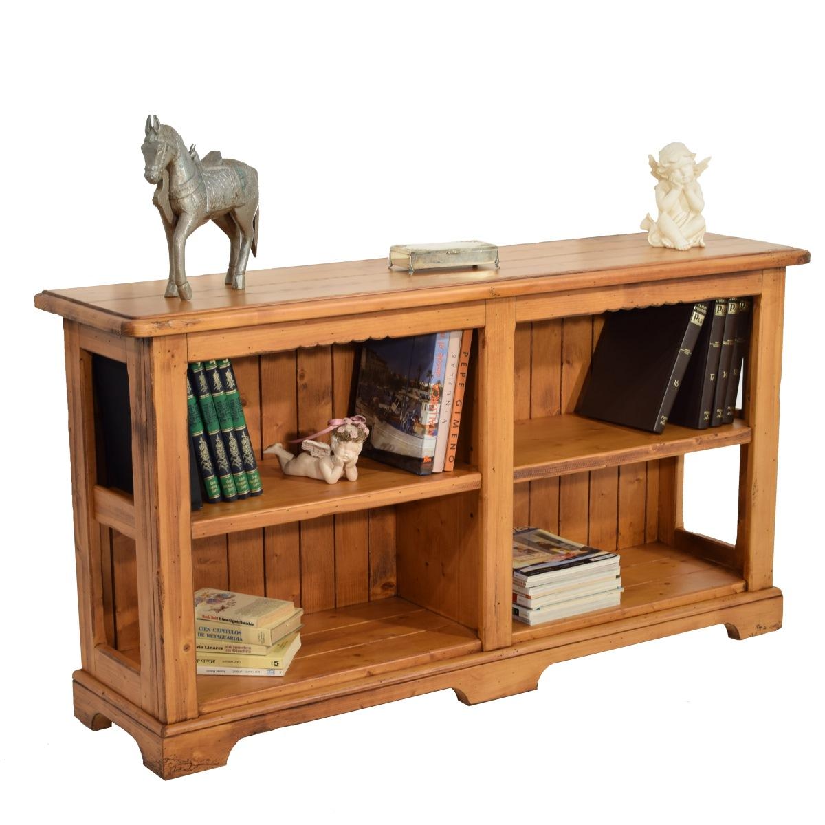 Librero r stico grande ecor stico venta de muebles - Escritorios rusticos de madera ...