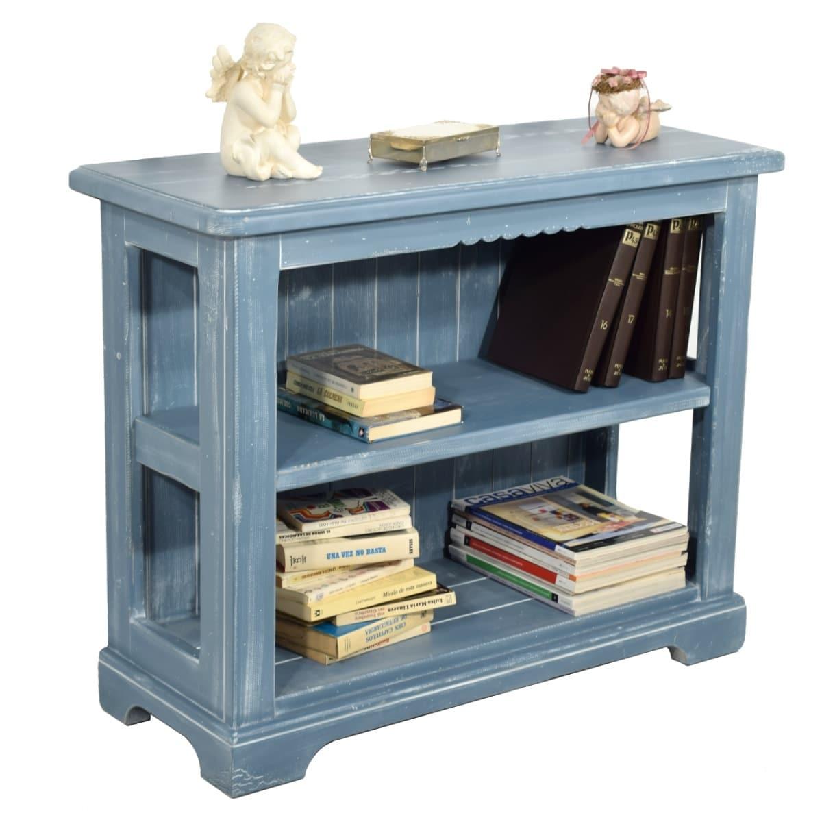 Librero r stico peque o ecor stico venta de muebles for Bar de madera rustico esquinero