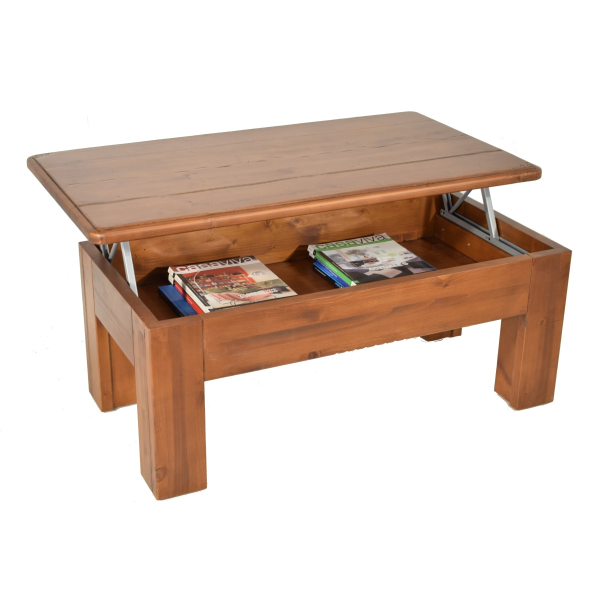 Mesa de centro rústica elevable. Ecorústico: venta de muebles