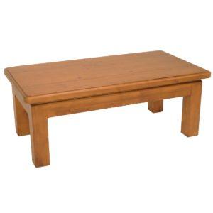 Mesa centro rústica patas de madera