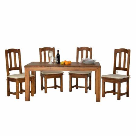 Mesa comedor rústica fija en varias medidas