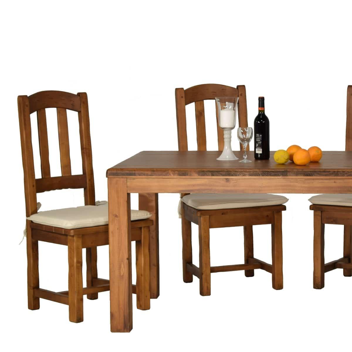 Silla alta rústica asiento de madera. Ecorústico: venta de muebles
