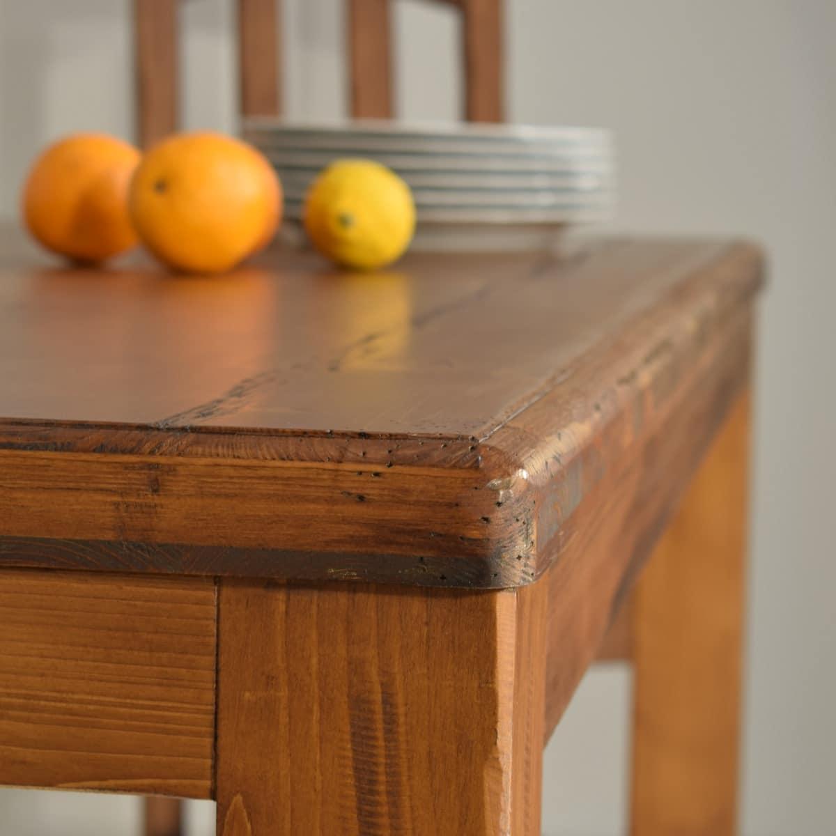 Mesa comedor rústica fija en varias medidas. Ecorústico.