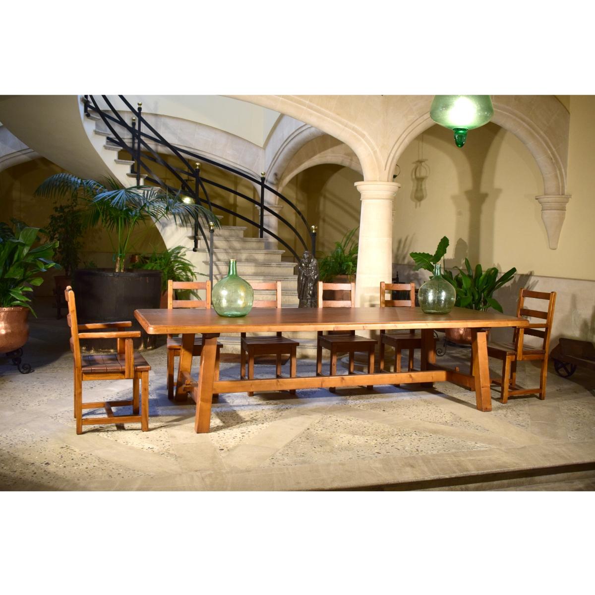 Mesa comedor rústica XXL. Ecorústico: venta de muebles