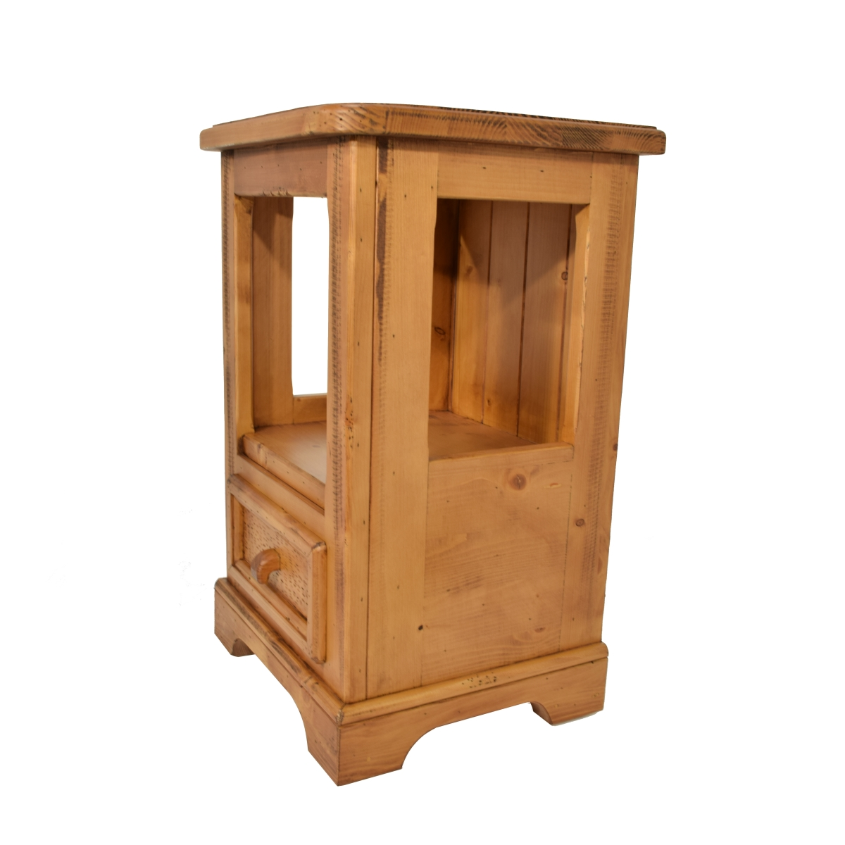 Mesita noche rústica un cajón. Ecorústico: venta de muebles