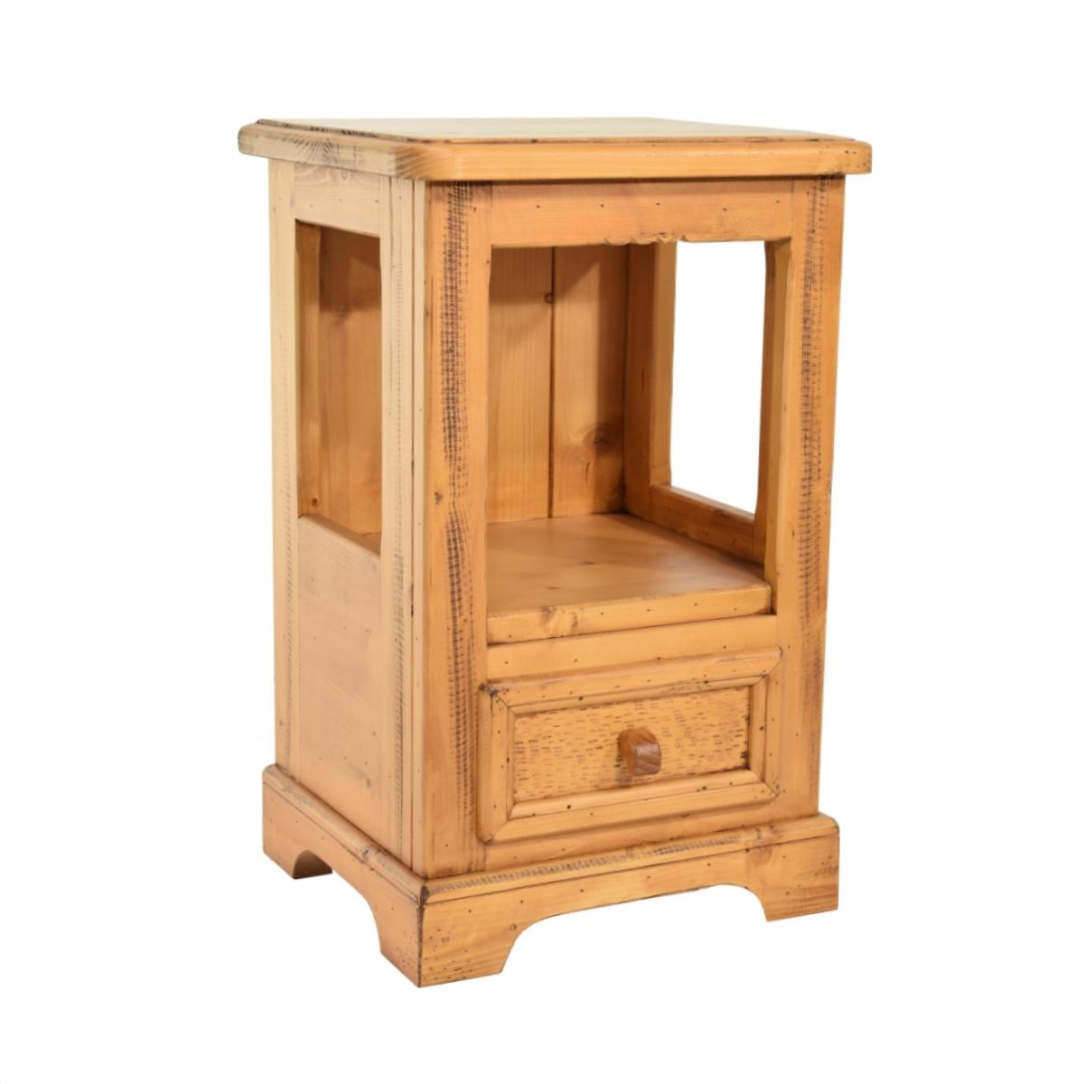Mesita noche r stica un caj n ecor stico venta de muebles - Mesitas de noche rusticas ...
