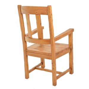 Sillón rústico alto asiento madera