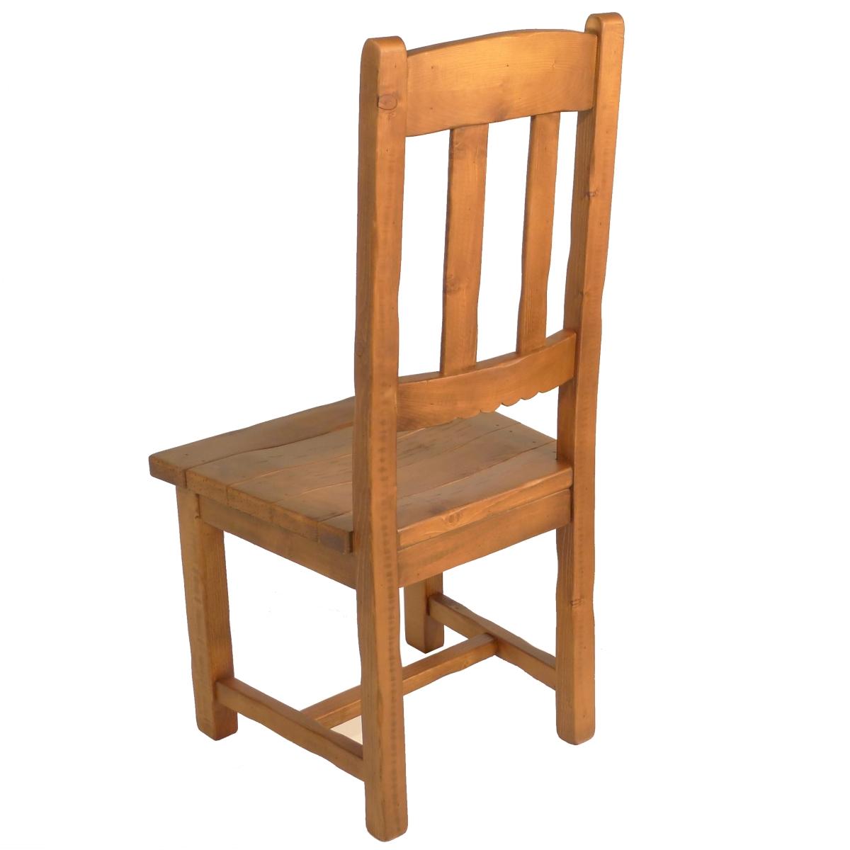 Silla alta r stica asiento de madera ecor stico venta de for Sillas de escritorio altas