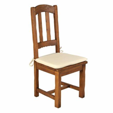 Silla alta rústica asiento de madera