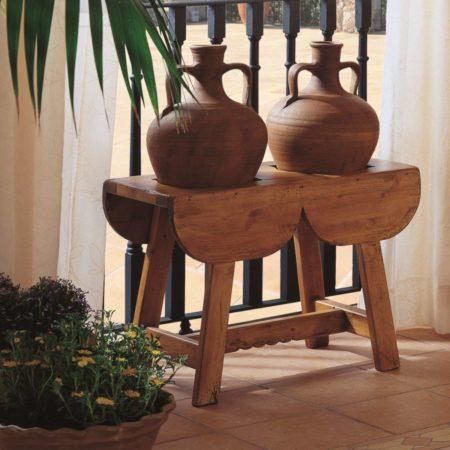 Tinajero rústico de madera
