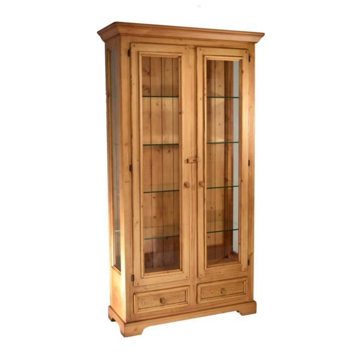Vitrina r stica dos vidrieras de madera - Vitrinas rusticas ...