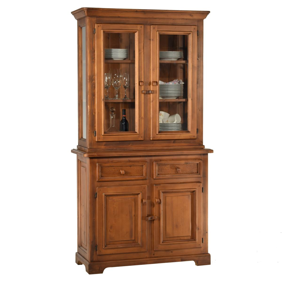 Armario Joyero Tienda Casa ~ Aparador vitrina rústico pequeño de madera
