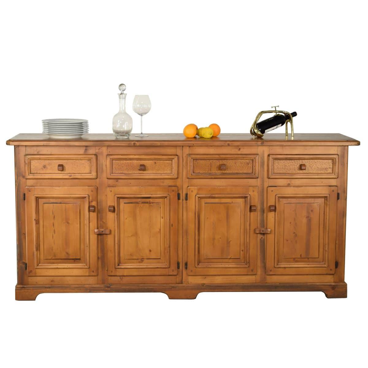 Armario Multiuso Retro ~ Aparador rústico de madera 207cm largo Ecorústico venta de muebles