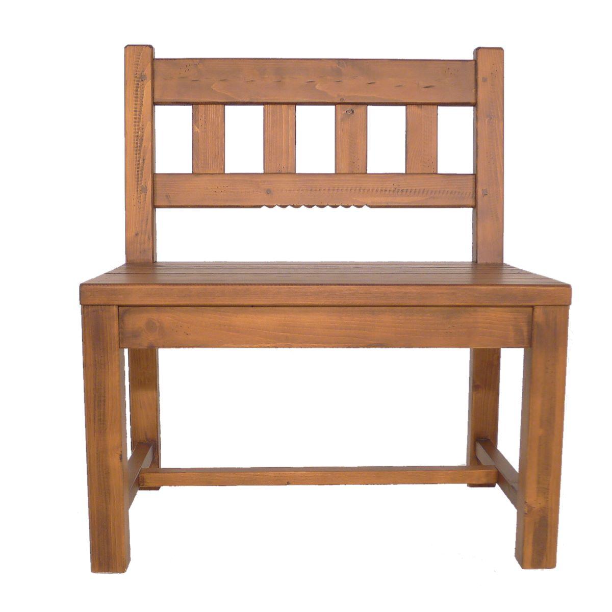 Banco r stico 75cm de alto en madera ecor stico venta de - Bancos de madera rusticos ...