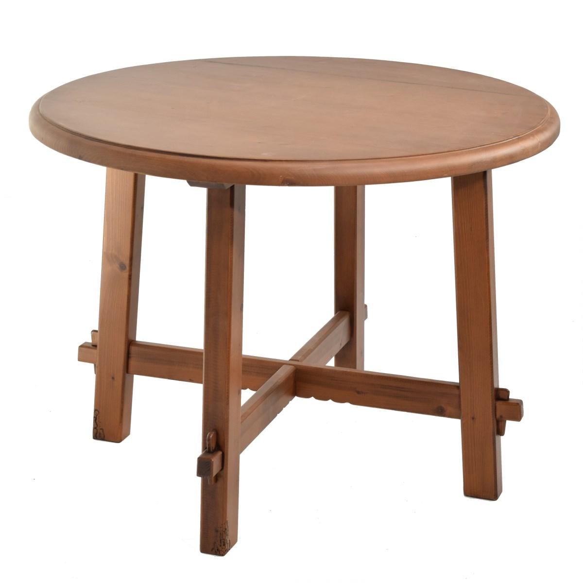 Mesa r stica redonda ecor stico venta de muebles for Mesas redondas de madera rusticas
