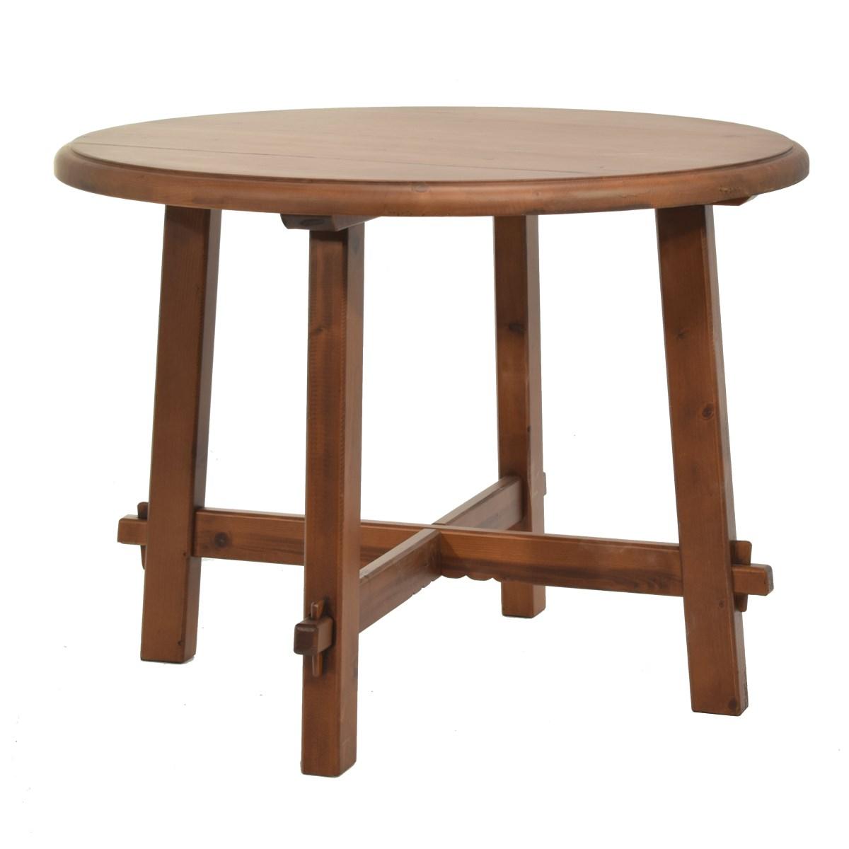 Mesa rústica redonda. Ecorústico: venta de muebles