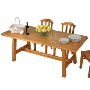 Mesa rectangular rústica 200cm.