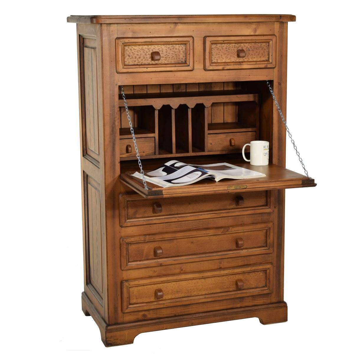 escritorio secreter rstico de madera