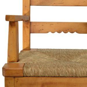 Sillón rústico bajo asiento anea natural