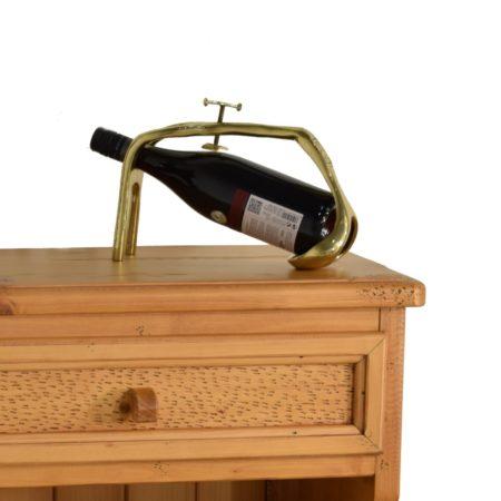 Botellero rústico de madera