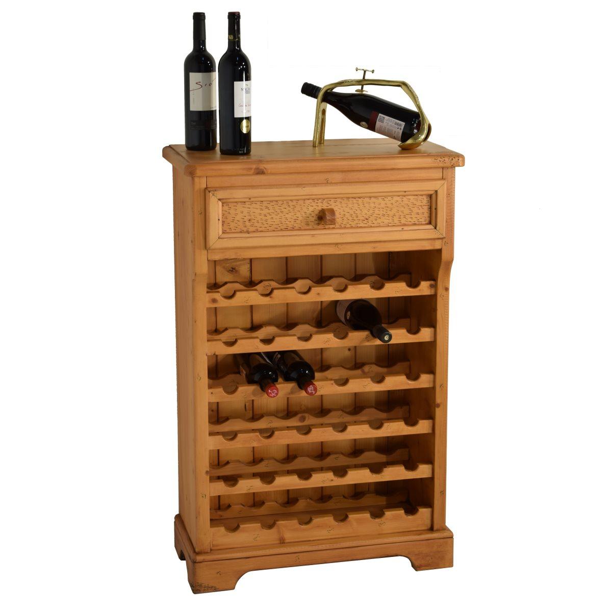 Botellero r stico de madera ecor stico venta de muebles - Botellero de madera para vino ...