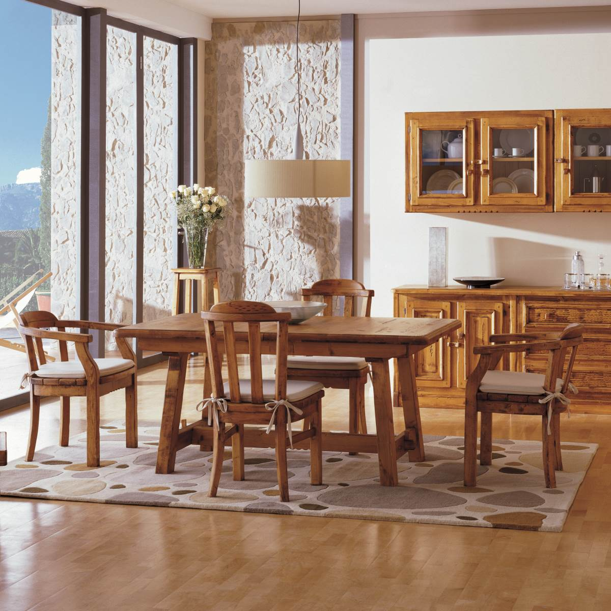 Mesa r stica 160 extensible ecor stico venta de muebles - Mesa comedor rustica extensible ...