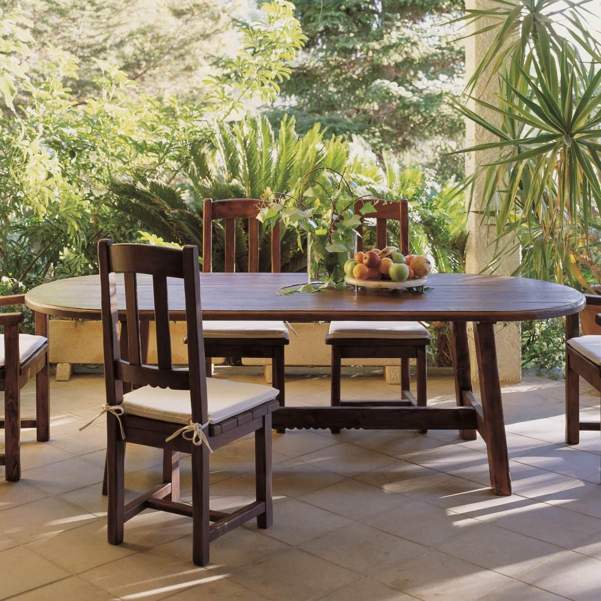Mesa r stica ovalada 240 ecor stico venta de muebles - Mesa ovalada ikea ...