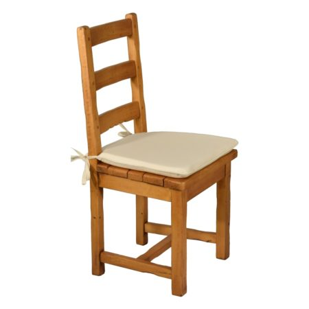 Silla rústica baja asiento madera
