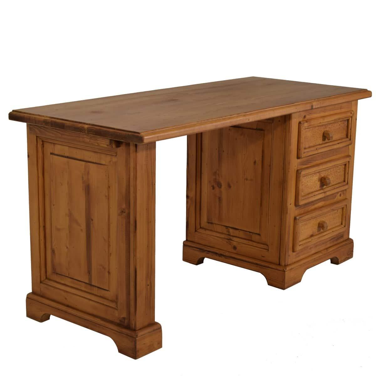 Escritorio r stico de madera peque o cajones ecor stico - Escritorio cajones ...