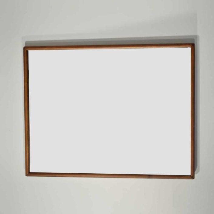 Espejo r stico marco liso de 90 cm fabricado en madera for Espejo horizontal salon