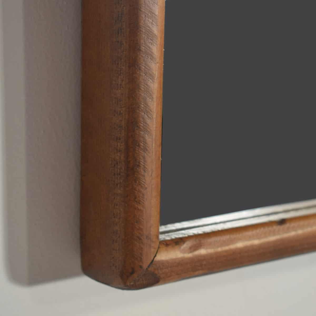 Espejo rústico marco liso de 90 cm fabricado en madera