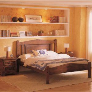 Cama rústica plafón de madera