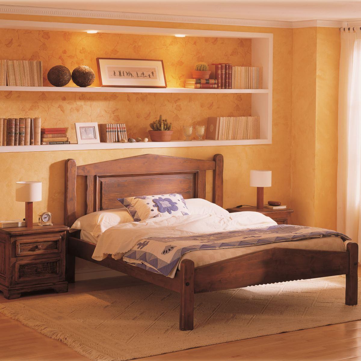 Cama rústica plafón de madera. Ecorústico: venta de muebles