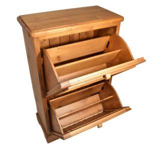 Zapatero rústico de madera