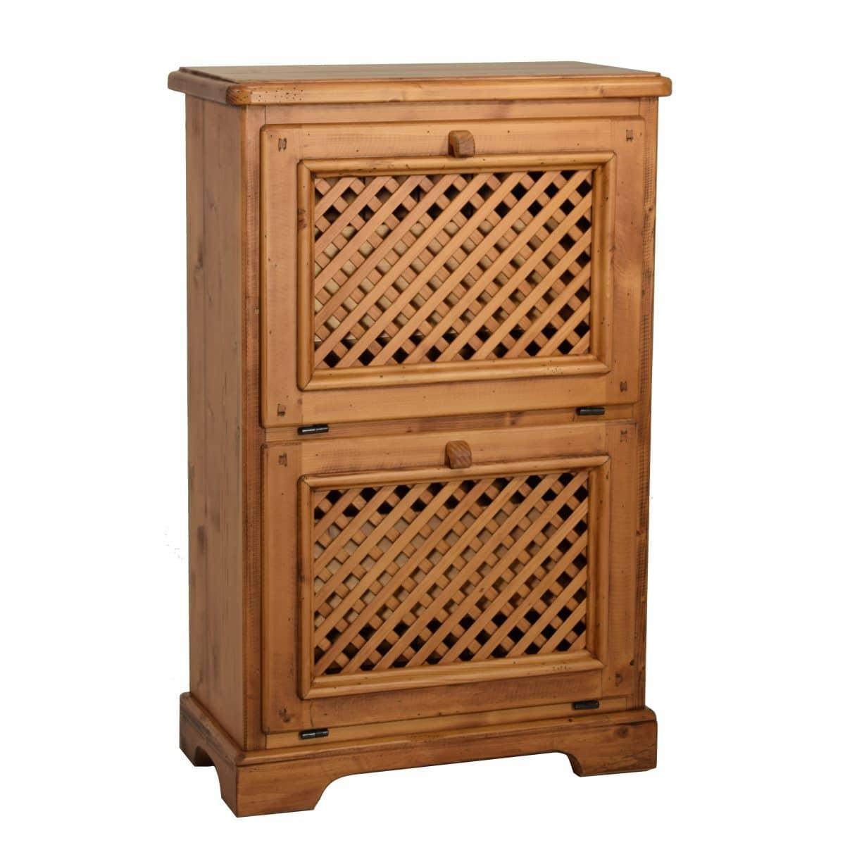 Zapatero r stico de madera ecor stico venta de muebles - Botelleros de madera rusticos ...