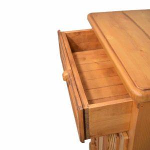 Auxiliar rústico dos puertas y cajón